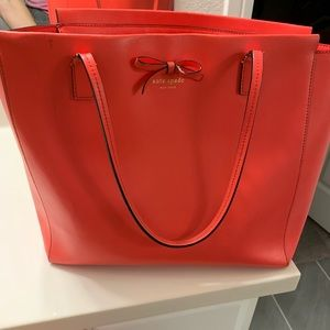 Kate Spade laptop tote! Gorgeous Coral color!